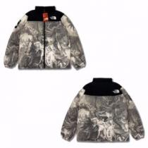 The North Face x Supreme連名モデル黒灰色デッサン系油絵シリー...