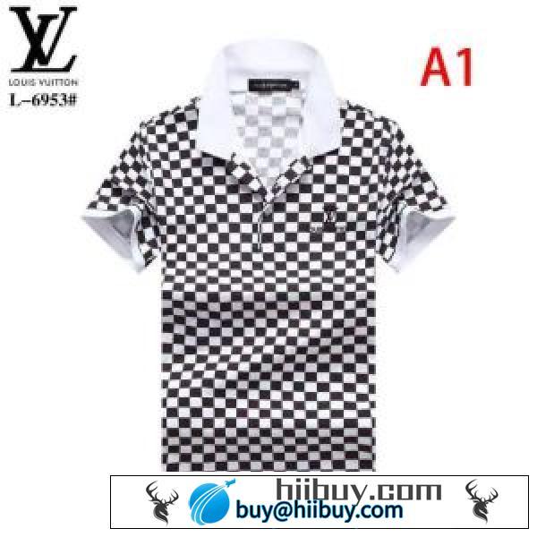 どのアイテムも手頃な価格で 2色可選 ルイ ヴィトン LOUIS VUITTON 2020春新作 半袖Tシャツファッションに合わせ(hiibuy.com TzSH1z)-2
