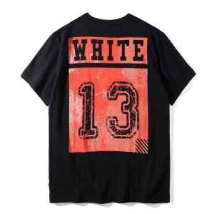 2020最新入荷Off-Whiteオフホワイトスーパーコピー半袖tシャツ メンズ 数字 プリント クルーネック半袖Tシャツ ブラック ホワイト(hiibuy.com XvKb8v)-3