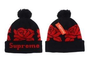 大人のセンスを感じさせるSUPREMEシュプリーム ニット帽子 スーパーコピー ポンポン付き ニットキャップ ブラックX赤色(hiibuy.com Gne0Ln)-3