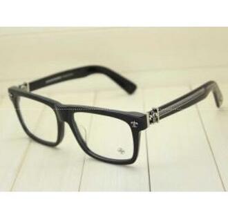 快適な視界を確保するCHROME HEARTS クロムハーツ 透明サングラス 眼鏡のフレーム.(hiibuy.com 4zKL1z)-3