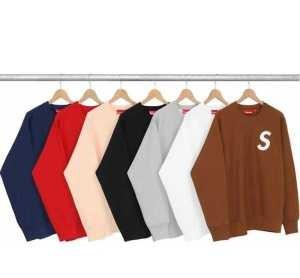 極上の着心地 FW16 S 刺绣Logo Crewneck SUPREME プルオーバーパーカー 3色可選(hiibuy.com feCG1j)-3