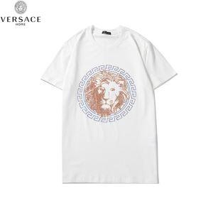 限定アイテム2020ヴェルサーチ Tシャツ コピーVERSACEコレクション メンズ トレンドコットンクルーネック白Tシャツ(hiibuy.com Kji05j)-3