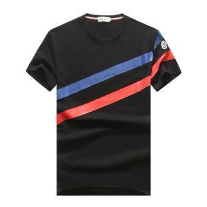 2色可選 モンクレール 高級感のある素材 MONCLER 海外でも人気なブランド 半袖Tシャツ(hiibuy.com fWXXjm)-3