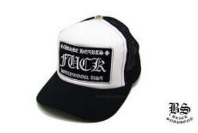愛用できるクロムハーツ トラッカーキャップ FUCK ブラック ホワイト ベーシックなデザイン キャップ.(hiibuy.com j0vGTr)-3