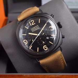 2020 ファッション 人気PANERAI パネライ 6針クロノグラフ 日付表示 透かし彫りムーブメント 腕時計(hiibuy.com GPbCim)-3
