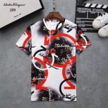 2020年春夏の限定コレクション 夏季最新アイテム FERRAGAMO サルヴァトーレフェラガモ 半袖Tシャツ 3色可選(hiibuy.com j0bOvC)-1