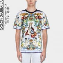 Dolce&Gabbana ドルチェ&ガッバーナ 半袖Tシャツ 爽やかさと品を兼ね備えた夏季新作 2020春夏こそ欲しい(hiibuy.com qSDeGD)-1