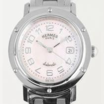 海外セレブ人気!エルメス クリッパー 腕時計 CL5.410.214/3831 オートマチック ナクレ ピンクシェル ボーイズ プッシュ式バックル最高品質入荷(hiibuy.com THrCyy)-1