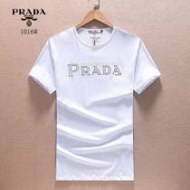 プラダ PRADA 半袖Tシャツ 2020春夏新作 お買い得 3色可選 細身のシルエット(hiibuy.com fy4b8f)-1