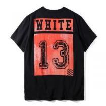 2020最新入荷Off-Whiteオフホワイトスーパーコピー半袖tシャツ メンズ 数字 プリント クルーネック半袖Tシャツ ブラック ホワイト(hiibuy.com XvKb8v)-1