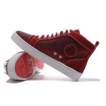 鮮やかな人気最新入荷 クリスチャン ルブタン 靴 コピー メンズ ファッション スニーカー ハイカット ビジネス シューズ TarTaupe Sneakers Red 赤色(hiibuy.com 1rS5Dq)-1