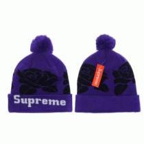 しっかり暖かな感じSUPREMEシュプリーム コピーニット帽子 人気通販 ポンポン付き ニットキャップ パープルxブラック(hiibuy.com 9ryaCq)-1
