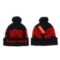 大人のセンスを感じさせるSUPREMEシュプリーム ニット帽子 スーパーコピー ポンポン付き ニットキャップ ブラックX赤色(hiibuy.com Gne0Ln)-1