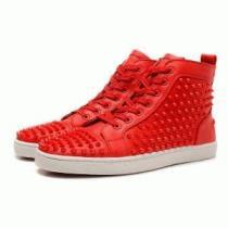 超激得新作登場Christian Louboutinクリスチャンルブタン スニーカー コピー メンズ 靴 シューズ ハイカット 赤色 スパイク(hiibuy.com yuSPLr)-1