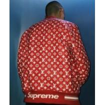 シュプリーム SUPREME×ルイヴィトン Leather Baseball Jacket ×LOUIS VUITTON メンズ ジャケット.(hiibuy.com 8L1Pfq)