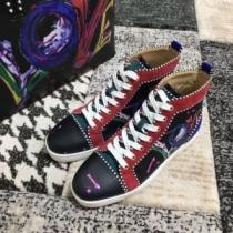 2020モデルルブタン スニーカー コーデChristian Louboutin 靴 コピー 販売 エレガント個性的ハイカットシューズおしゃれ(hiibuy.com 8rq4Tv)-1