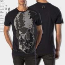 魅力的 2020春夏 PHILIPP PLEIN フィリッププレイン 半袖Tシャツ 4色可選(hiibuy.com Sn0zay)-1