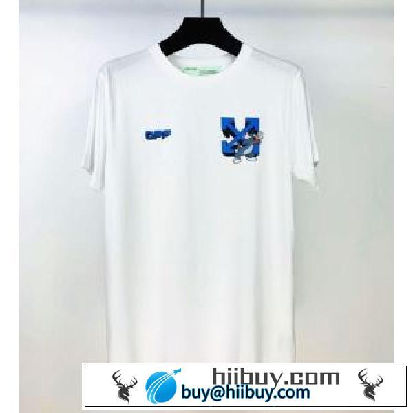 2色可選 着こなしを楽しむ 半袖Tシャツ 有名ブランドです Off-White オフホワイト 争奪戦必至(hiibuy.com vOzCmq)-2