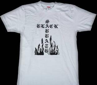 違和感がないシュプリーム  ブラックサバスクロス 夏らしい涼しげなTシャツホワイト .(hiibuy.com Gzu8ni)-3