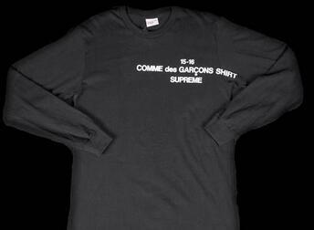 耐久性を誇るシュプリーム ×コムデギャルソン 夏に欠かさないTシャツ ブラック.(hiibuy.com 0519Hn)-3