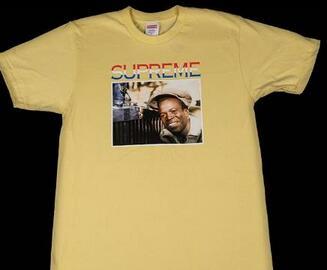 快適な着心地やすっきりとした印象にシュプリーム 一番人気を誇るTシャツ イエロー.(hiibuy.com ya8LnC)-3