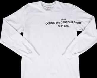 夏に最適な シュプリーム スーパーコピー ×コムデギャルソン カジュアル感が漂うロンTホワイト.(hiibuy.com 49Dqau)-3