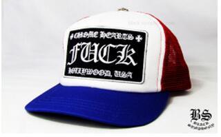 耐久性に溢れるアイテム クロムハーツ トラッカーキャップ FUCK ブルー レッド 帽子.(hiibuy.com TrC0fq)-3