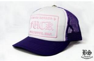 お買い得 クロムハーツ トラッカーキャップ FUCK パープル ピンク 最適なサイズ 帽子.(hiibuy.com HnqyKn)-3