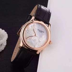 スタイリッシュな印象 2020  パテックフィリップ Patek Philippe2針クロノグラフ 女性用腕時計(hiibuy.com vCCmiy)-3