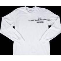 夏に最適な シュプリーム スーパーコピー ×コムデギャルソン カジュアル感が漂うロンTホワイト.(hiibuy.com 49Dqau)-1
