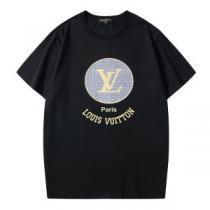 ルイ ヴィトン大幅割引価格 2色可選  LOUIS VUITTON 今年の春トレンド 半袖Tシャツ 大人の新作こそ(hiibuy.com Xz8fKz)-1