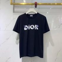 2色可選 エレガントな雰囲気 半袖Tシャツ VIP価格SALE ディオール DIOR  おしゃれな人が持っている(hiibuy.com KX11bi)-1