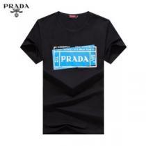 有名ブランドです 半袖Tシャツ 3色可選 人気ランキング最高 プラダ PRADA  着こなしを楽しむ(hiibuy.com bey8Hn)-1