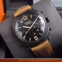 2020 ファッション 人気PANERAI パネライ 6針クロノグラフ 日付表示 透かし彫りムーブメント 腕時計(hiibuy.com GPbCim)-1