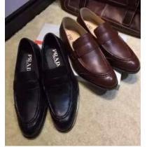 個性溢れるデザインで  2020 PRADA プラダ 履き心地抜群 レザーシューズ靴 2色可選(hiibuy.com eCa4rm)-1